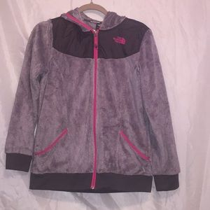 The North Face fuzzy hooded jacket!! Sz XL 💕💕